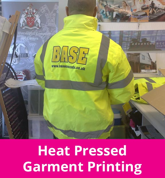 Heat Pressed Garment Printing